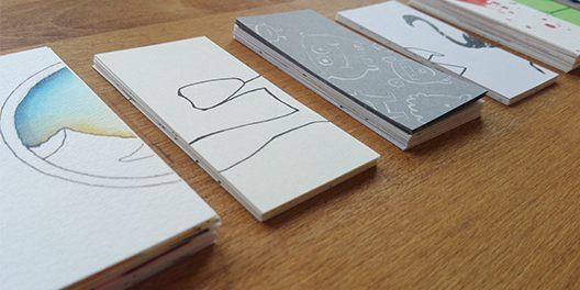 Bild mit individuell gestalteten Visitenkarten