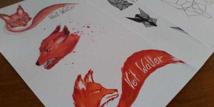Skizzen und Zeichnungen Veit Walter Band